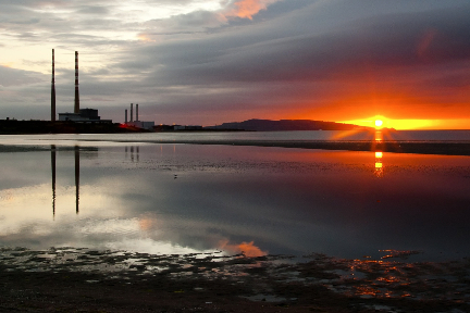 Poolbeg Chimneys, Dublin