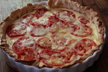 Tart a la Tomate with Crab