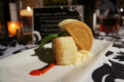 Strawberry/Rhubarb Goat Cheese & Mascarpone Cheesecake