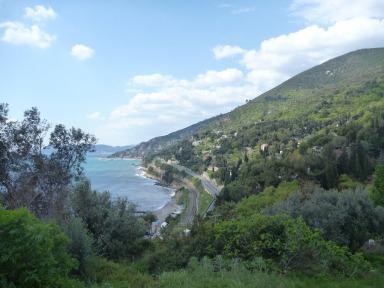Albenga View to Alassio