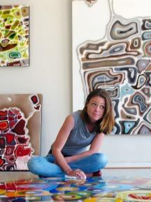 Klari Reis at Work #KlariReisArt #KlariReis @klariart #Artist