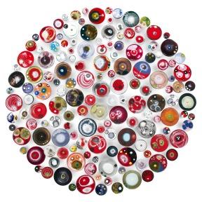 Klari Reis, #KlariReisArt, @klariart, Mixed Media Artist, 150-hypochondria-red