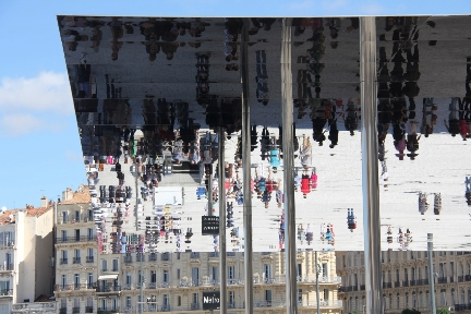 Mirrored Canopy - Foster & Partners