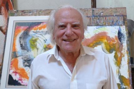 Henry Ferrier in his Studio