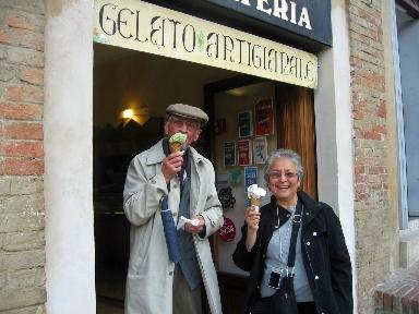 Enjoying Gelato