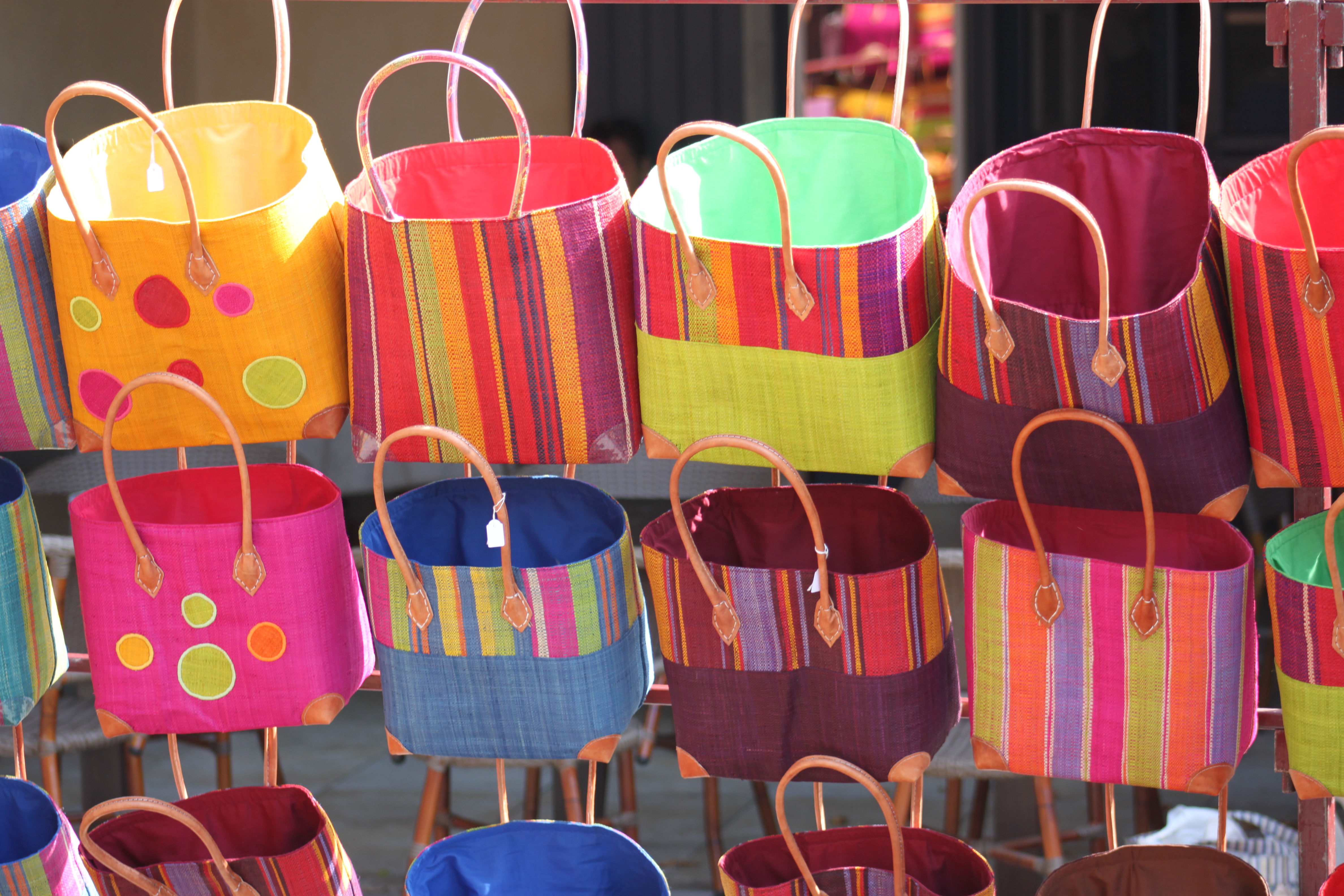 Provence market bags #Provence #Markets @GingerandNutmeg
