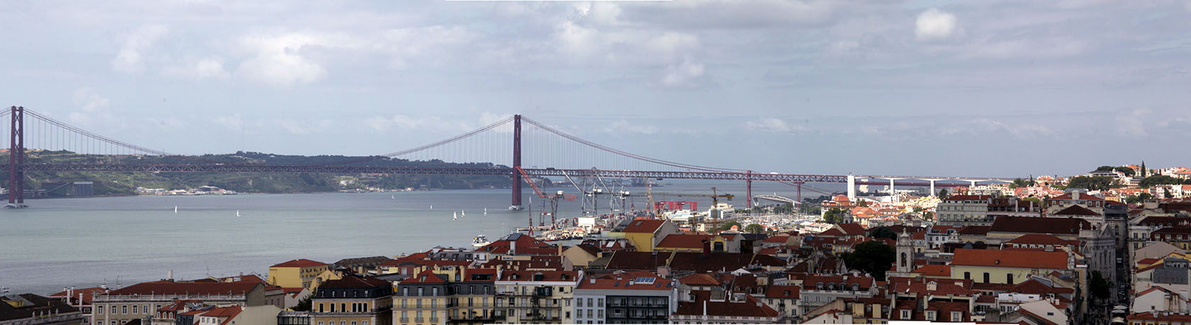 Lisbon_April 25th Bridge Panorama  #Portugal #Lisbon @GingerandNutmeg