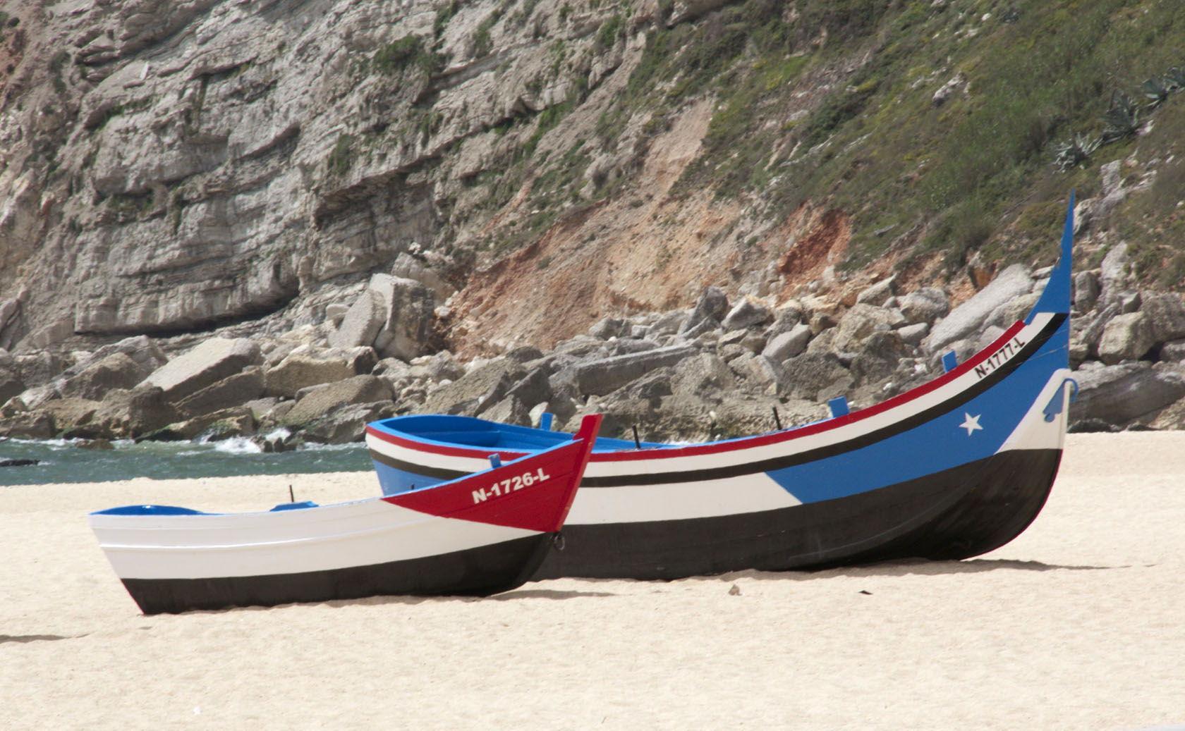 Nazare Boats #Portugal #Nazare @GingerandNutmeg
