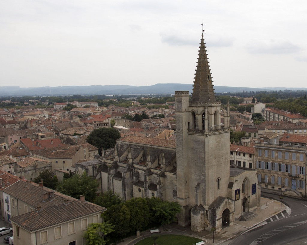 Tarascon Church from Tarascon Castle #Tarascon #Tarasque #ProvenceLegends @GingerandNutmeg