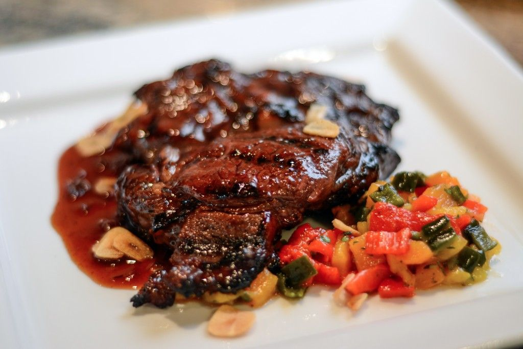 Ribeye with Black Pepper Merlot Glaze Foodie Pages August Chefs Box #FoodiePages #ChefsBox