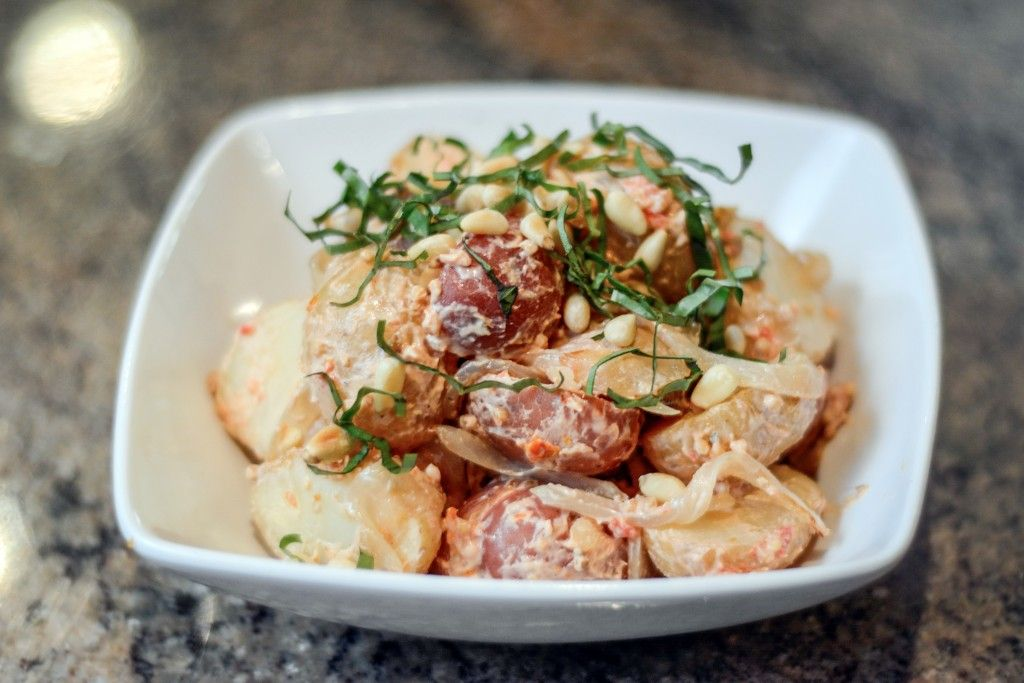 Tuscan Potato Salad with Sun Dried Tomato Mustard  Foodie Pages August Chefs Box #FoodiePages #ChefsBox