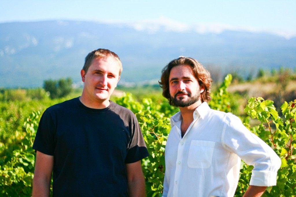 Fred & Alex Chateau Pesquie Entrance #Provence #Vineyard #chateaupesquié @fredchaudiere