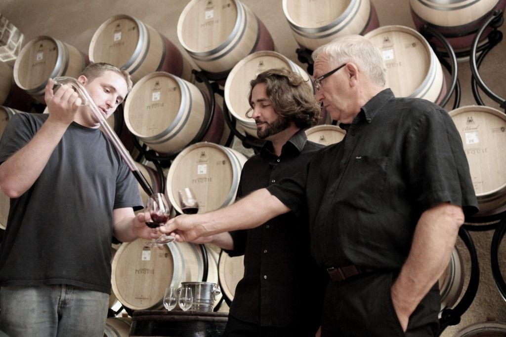 Fred & Alex & Paul Chateau Pesquie #Provence #Vineyard #chateaupesquié @fredchaudiere