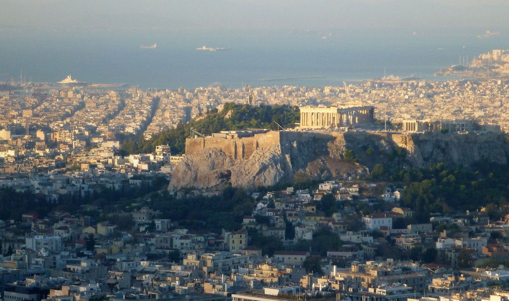 Acropolis from Lycabettus hill #Athens #Greece #VisitGreece @GingerandNutmeg