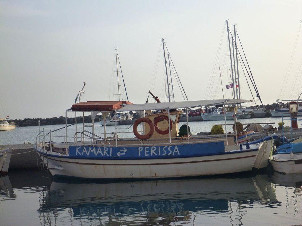 Boat #Santorini #Greece #VisitGreece @GingerandNutmeg