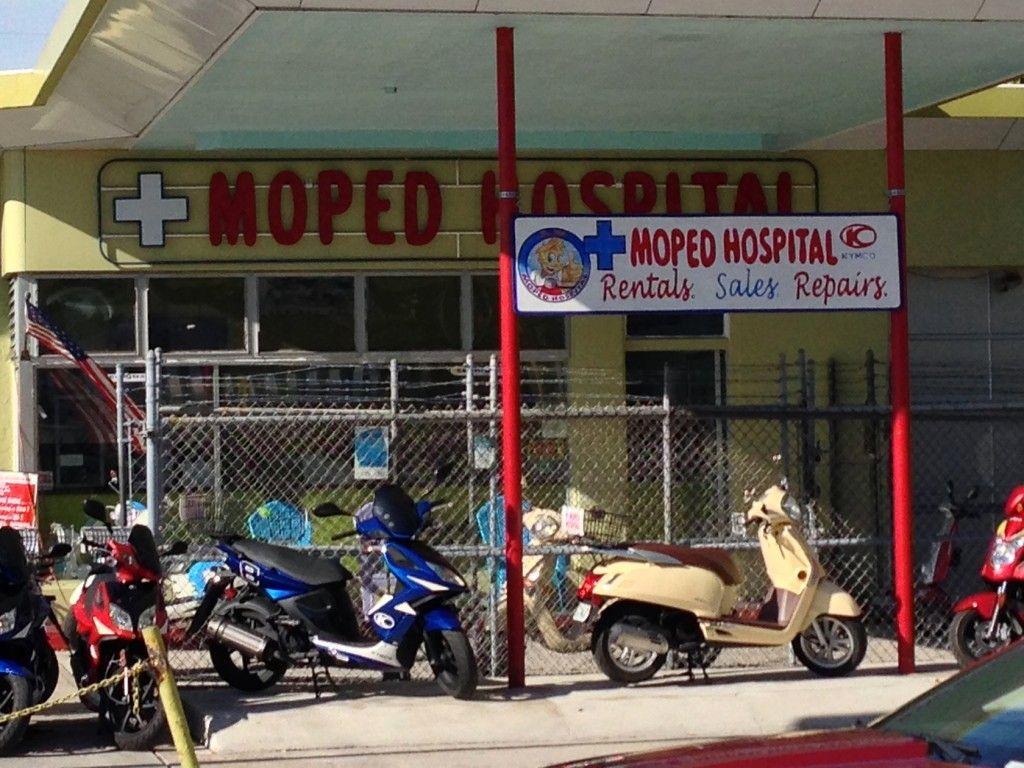 Moped hospital #KeyWest #Florida @GingerandNutmeg