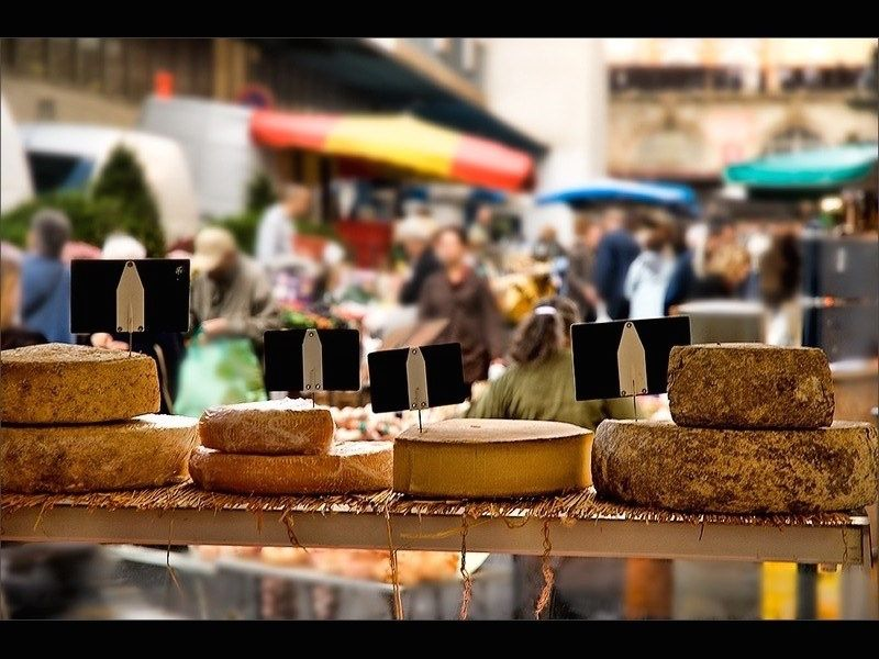 Cheese at market #France @AbsoluteSouthFr