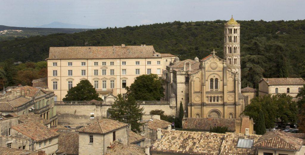 Uzes Cathedral View #Uzes @GingerandNutmeg