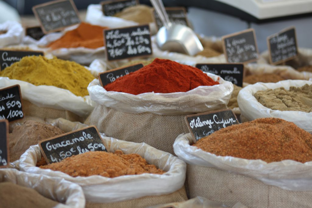 Market Spices #FoodieTravel #TastesofTravel @GingerandNutmeg