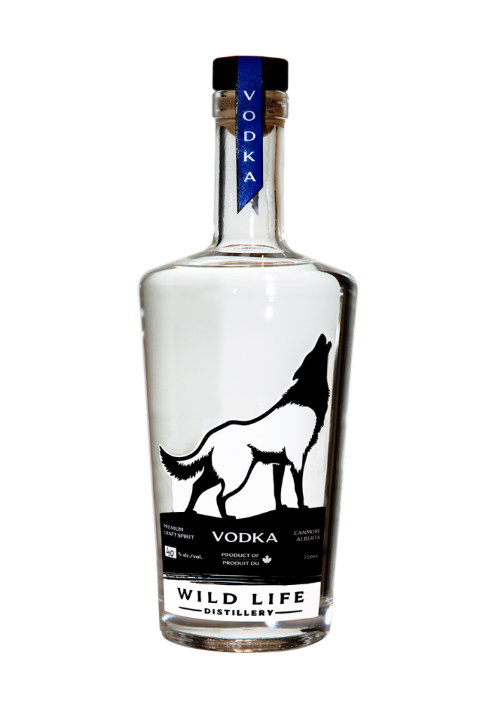 Vodka bottle from Wild Life Distillery in Canmore